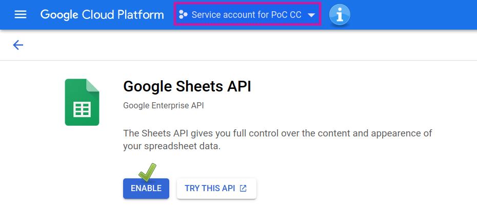 Google Cloud Console: Enable Google Sheets API.