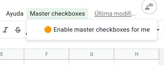 Menú del script que permite activarlo o desactivarlo por usuario.